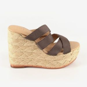 Herve Léger (NWOT) platform espadrille sandals
